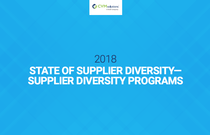 Download the 2018 State of Supplier Diversity Reports