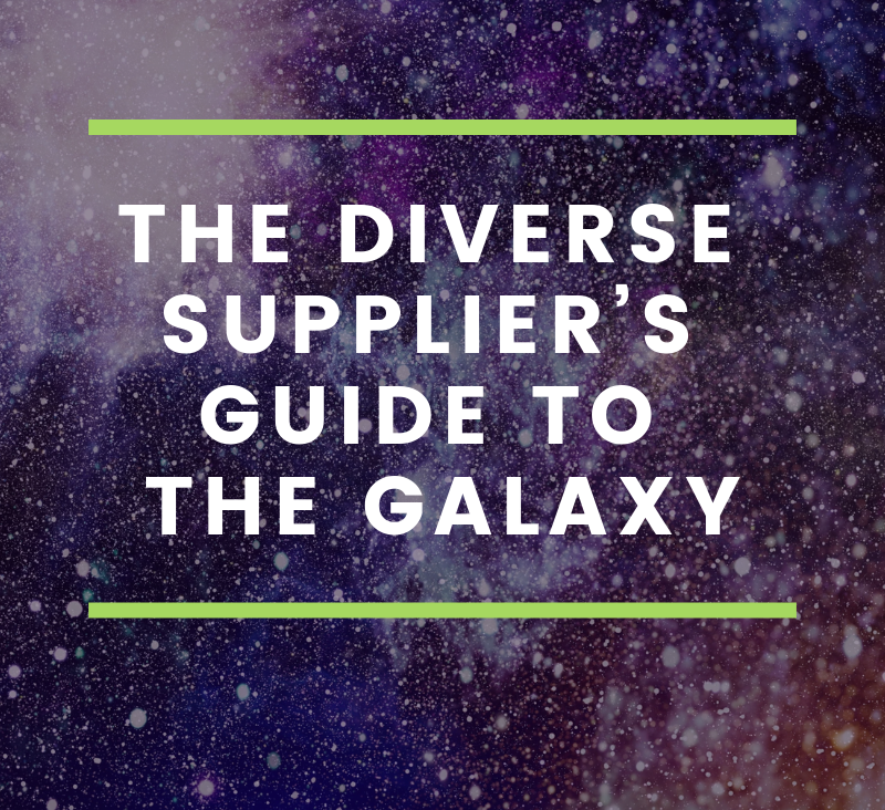 THE DIVERSE SUPPLIER'S GUIDE TO THE GALAXY-1